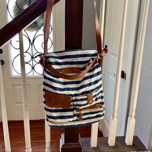 American Eagle Striped Shoulder Cross Body Purse